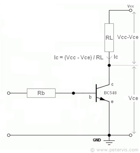 base resistor biasing transistor as a switch biasing