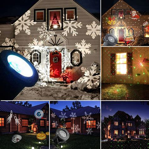 laser christmas lights snowflakes outdoor garden christmas light snowflake led laser