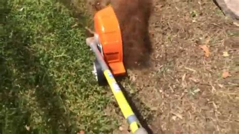 stihl bed edger stihl kombi bed redifiner in action youtube