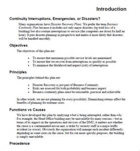 Business Continuity Plan Template Sample Business Continuity Plan Template 13 Free