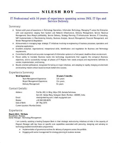 technical resume formats technical resume template 6 free word pdf document