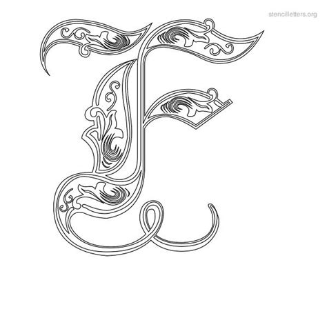 decorative lettering templates decorative stencil letter f tattoos piercings