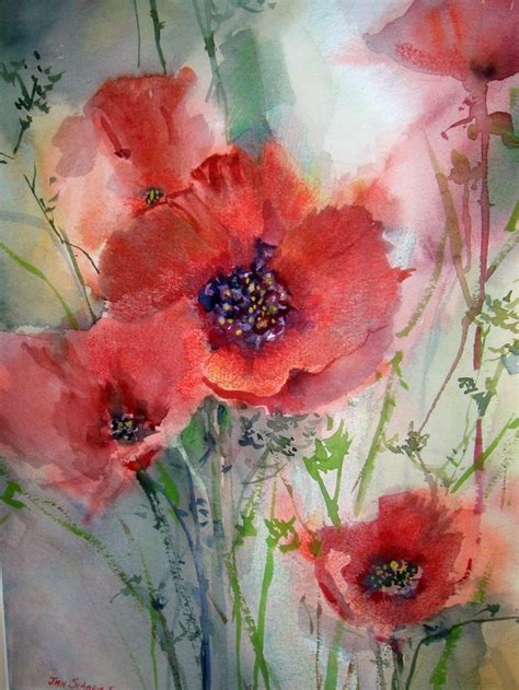 tutorial watercolor tattoo 25 beautiful watercolor poppies ideas on pinterest