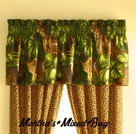 jungle print curtains safari jungle cats cheetah leopard animal print window