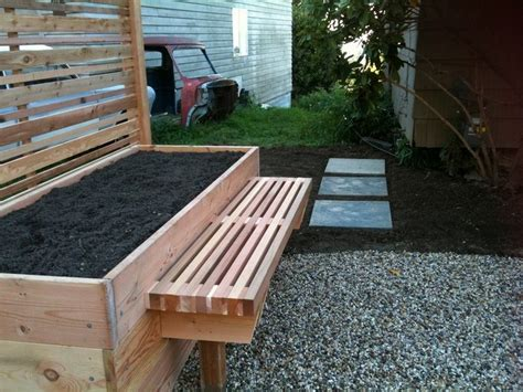 raised garden bed with bench seating raised garden bed with benches the owner builder network