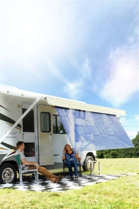 rv awnings online camco rv awning shade kit 54 quot long x 180 quot wide blue