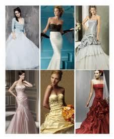 color wedding dresses wedding dress color of your wedding dress