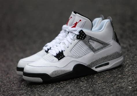 air 4 retro 89 nike air white cement 2016 sneakerfiles