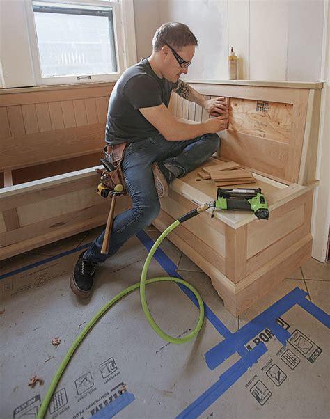 make a built in breakfast nook fine homebuilding
