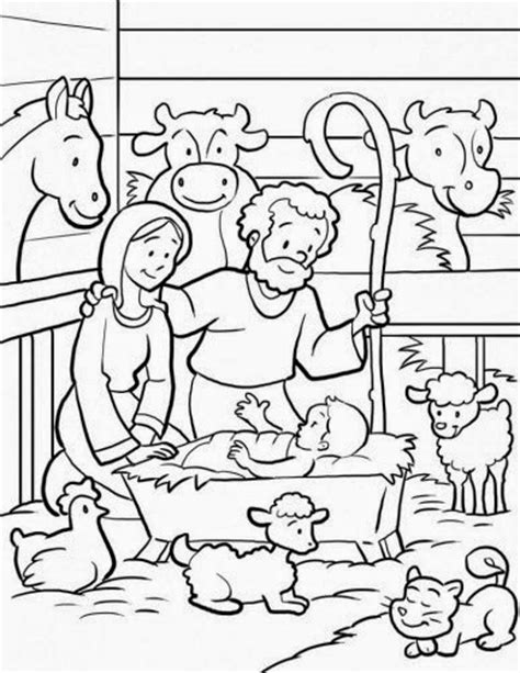 nativity scene animals coloring pages desenhos para colorir o nascimento de jesus 23 p 193 ginas