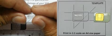 sim card adapter template a4 paper tech freax cut your sim card to microsim yourself