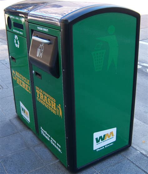 residential trash compactor about program waste management single stream recycling