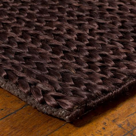 Hemp Braids - buy hemp braid rug brown 170x240cm the real rug