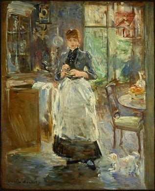 berthe morisot in the dining room in the dining room artble com