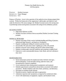 Assistant Description Resume by Sle Assistant Description 8 Exles In Pdf
