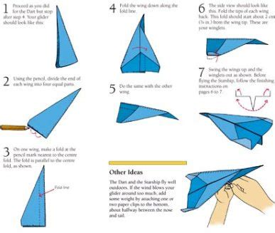 Ways To Make A Paper Airplane Fly Farther - how to make paper airplanes step by step images