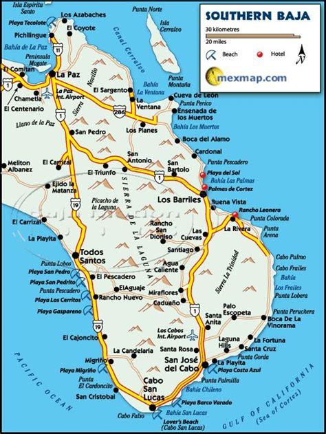 baja california sur map 24 best images about baja mexico maps on