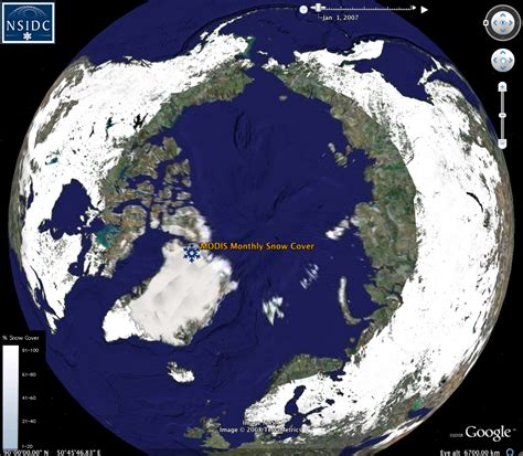 snow cover map world nsidc data on google earth national snow and ice data center