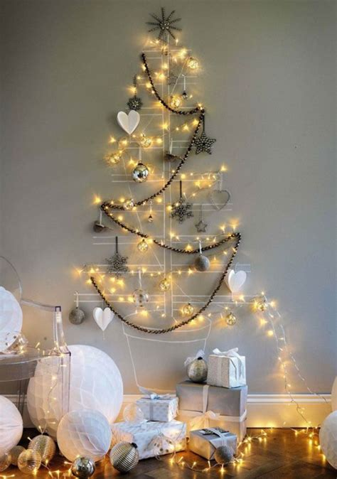 luces arbol de navidad 193 rboles de navidad para las paredes de casa un toque de