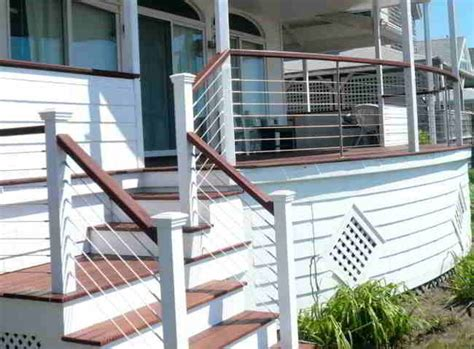 deck patio porch balcony cable railing modern by