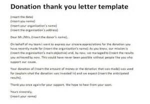 donation thank you letter best business template