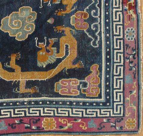 tibetan rugs for sale antique tibetan carpet circa 1880 handmade rug blue gold for sale at 1stdibs