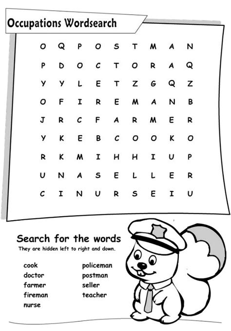 printable word search jobs job word search printable activity shelter
