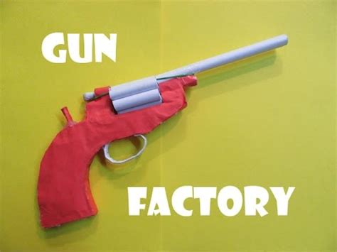 How To Make A Paper Revolver - how to make a paper revolver that shoots paper bullet