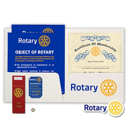 rotary card template rotary new member kit rotary club supplies