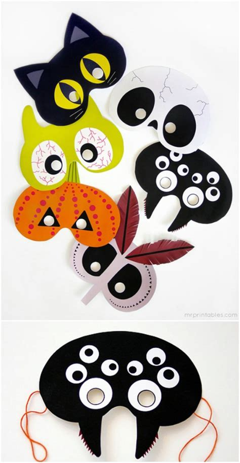 printable halloween masks adults 20 easy and creative diy halloween masks for kids and