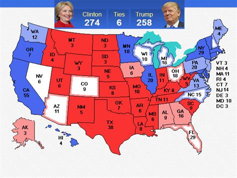 us electoral map 2016 electoral map predictions 50 days to the election