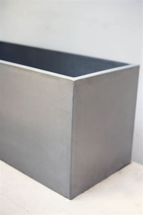 Rectangular Cement Planters by Planter Rectangular