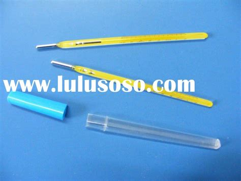 Thermometer Solid Stem solid stem glass clinical mercury thermometer for