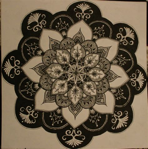 flower pattern mandala flower pattern mandala by kultiration on deviantart