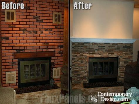 How To Get Paint Off Brick Fireplace by Red Brick Fireplace Makeover