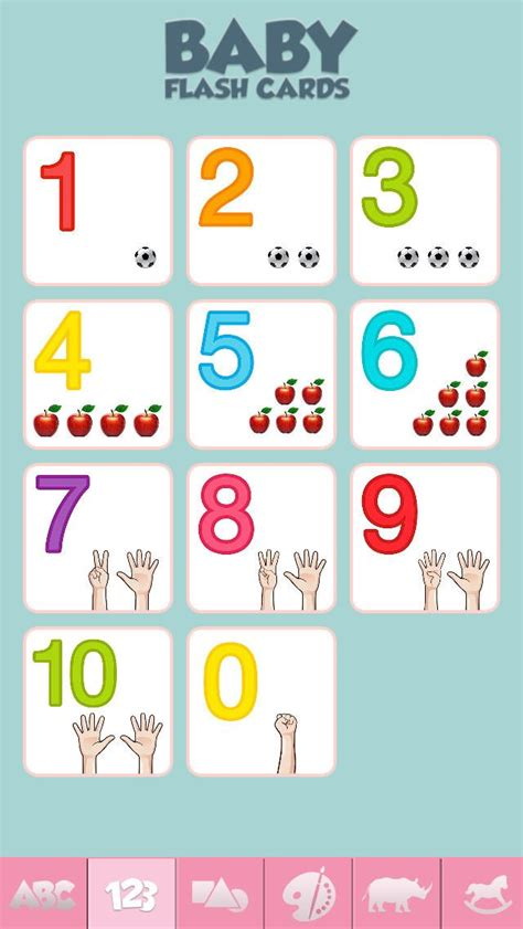printable flashcards for babies baby flash cards game for learning alphabet numbers