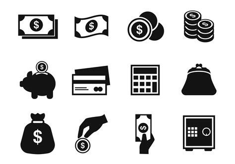 money dollar vector icon black and white money icons vector free vector stock