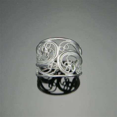 Handmade Band Rings - russian filigree ring handmade filigree cigar band ring