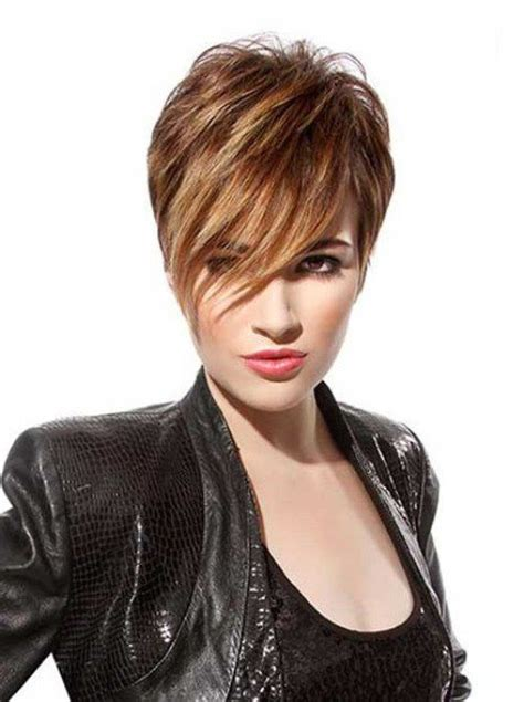 toffee hair color ideas short hair color 2017 toffee pixie with side swept bangs
