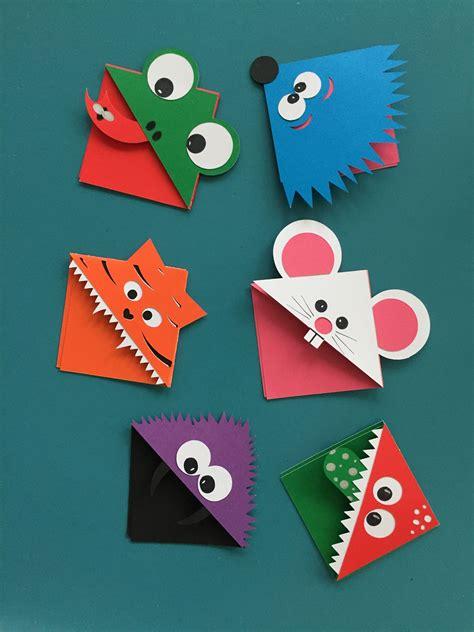 Paper Corner Bookmarks corner bookmarks crafts bookmarks origami