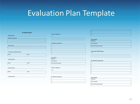 8 evaluation plan exles sles gt gt 18 great