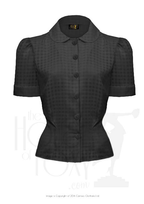 Angelic Top Black Blouse new style 1930s tops and blouses for sale