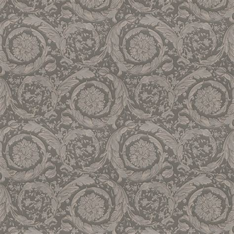 grey versace wallpaper versace barocco flower grey metallic wallpaper 93583 6