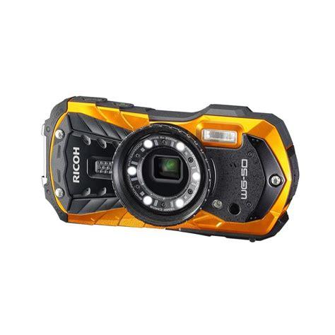 camara waterproof ricoh wg 50 waterproof orange compact cameras