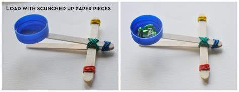 How To Make A Catapult Out Of Paper - paddle pop stick catapult be a