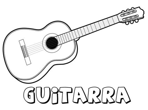 imagenes animadas instrumentos musicales guitarra para colorear dibujos de instrumentos musicales