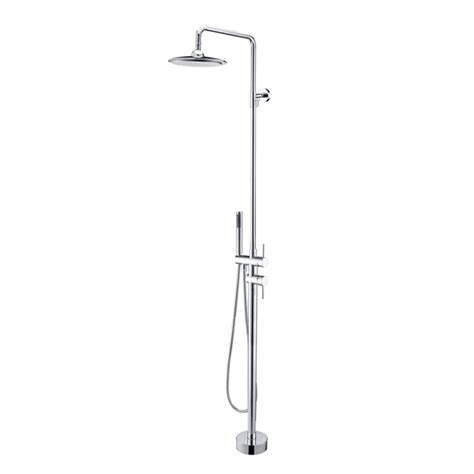 Floor Mounted Faucets by Handle Floor Mounted Chrome Tub Filler Faucet Handshower Rainfall Sj 7103