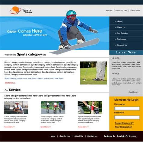 free sports website templates 17 free sports templates psd images free website