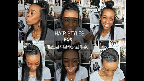 6 hair styles for straight natural hair youtube