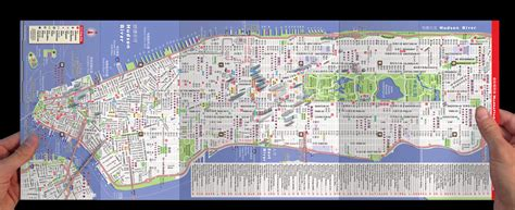 streetsmart nyc midtown manhattan map by vandam laminated pocket sized city map with all attractions museums broadway theaters hotels and subway map 2017 edition books new york city map by vandam nyc mandarin streetsmart map